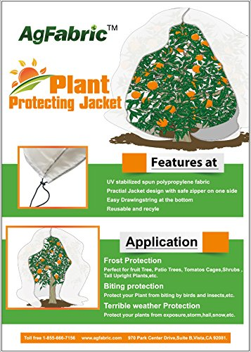 Agfabric Shrub Jacket and Plant Cover Extra Large size (1.5oz Fabric, 168''x168'') (Extra Large Greenhouse compare prices)