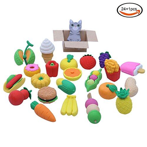 goodlucky365-24-pezzi-gomma-da-cancellare-di-cibo-gomme-confuse-gomme-giapponesi-giocattoli-educativ