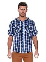 New Caro Camisa Hombre Azucena (Azul Medio)