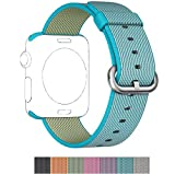 2016 Newest Apple Watch Band :2016 Latest Fine Woven Nylon StrapAvailable in seven vibrant colors-pure and elegant color would change the look of your apple watch and make it very special and larrupingPrecise cut holes to fit well for most wr...