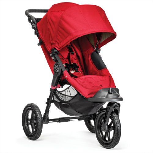 Baby Jogger City Elite Single Stroller, Red front-1075834