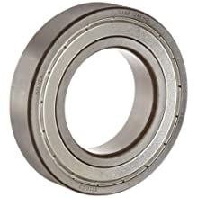 FAG Light 6200 Series Deep Groove Ball Bearing, Single Row, Sheet Steel Cage, Double Shielded, C3 Clearance, Metric