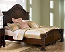 Hot Sale Old World King Mansion Bed in Dark Casual Finish