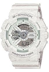 Casio G-Shock Heathered White Dial Resin Quartz Men's Watch GA110HT-7A