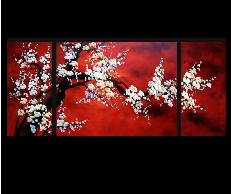 Abstract Art Plum Blossom Chinese Feng Shui Painting