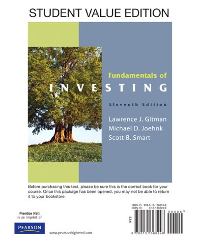 Fundamentals of Investing, Student Value Edition PLUS...