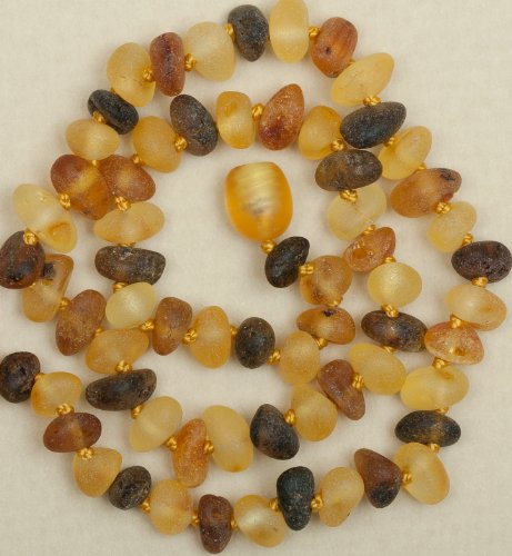 Raw Baltic Amber Teething Necklace 13''