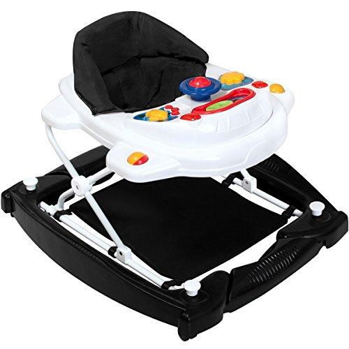 3IN1 Lauflernhilfe / Babyschaukel mit Spielcenter (12 Melodien) und Einlage (BLACK `N WHITE)