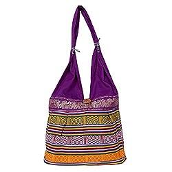 Womaniya Women's Handbag Purple (Woman-413)
