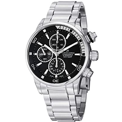 Maurice Lacroix Men's PT6008-SS002330 Pontos Black Chronograph Dial Watch