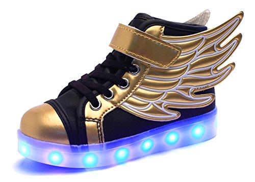 SLEVEL-LED-Light-Up-Shoes-USB-Flashing-Sneakers-for-Kids-Boys-Girls
