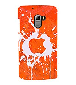 printtech Apple Splash Design Back Case Cover for Lenovo K4
