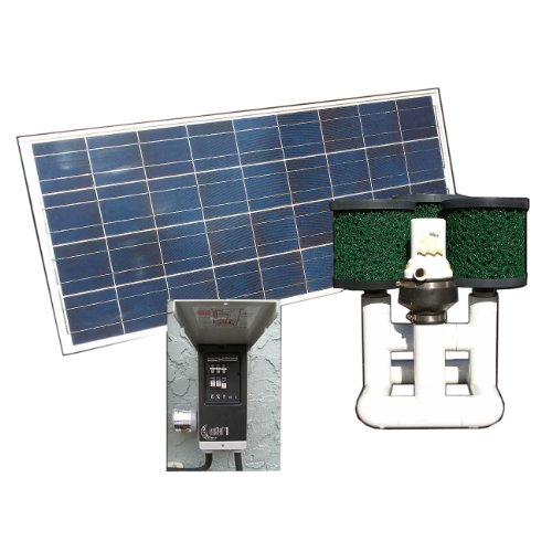 Natural current savior bottom feeder pond solar pump and for Solar water filter for ponds