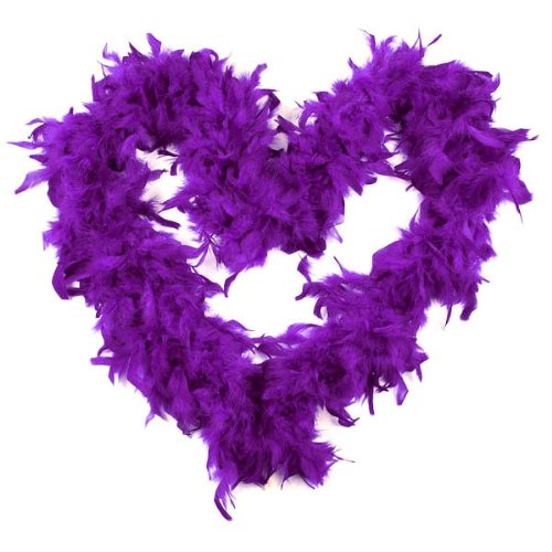BestOfferBuy 2M Feather Boas Fluffy Party Decoration Costume Dress Up Prop Purple