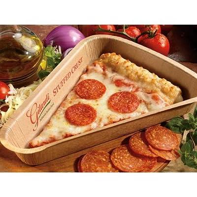 Gilardi Large Stuffed Crust Whole Grain Turkey Pepperoni Pizza, 5.46 Ounce -- 72 per case.