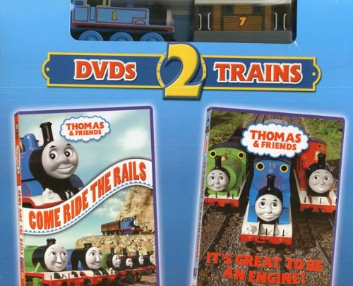 Thomas and Friends: 2 Dvd's and 2 Trains: Come Ride the Rail DVD and It's Great to Be an Engine