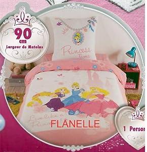 parure de lit housse de couette flanelle disney princesses live like a princess raiponce 140. Black Bedroom Furniture Sets. Home Design Ideas