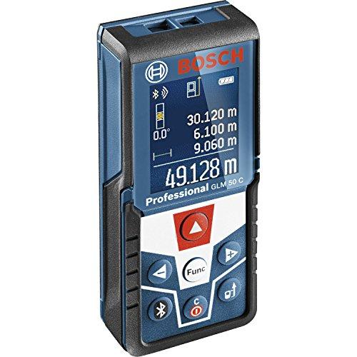 Bosch-Professional-GLM-50-C-Laser-Entfernungsmesser-Messbereich-005-50-m-Bluetooth-Schnittstelle-fr-Apps-iOS-Android-drehbares-Farb-Display-Schutztasche-IP54-Staub-und-Spritzwasser-Schutz-0601072C00