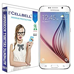 Cellbell Premium Tempered Glass Screen Protector for Samsung Galaxy S6(2.5D Curved Edges)(Clear)(Comes with Warranty)Complimentary Prep cloth-Bronze Edition