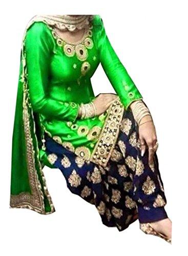 Yeoja Creation Green Patiyala suit(Greenpatiyala_Freesize_YMQ01)