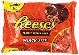 REESE\'S Peanut Butter Cups (Snack Size, 19.5-Ounce Bags, Pack of 2)
