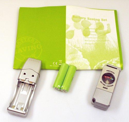 PF Concept Ladeset mit USB Batterieladegerät / Batterietester / 2x AA Akkus