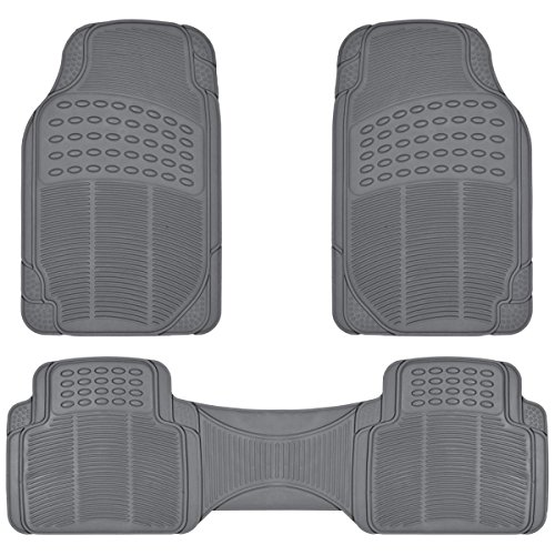 ProLiner Gray All Weather Rubber Auto Floor Mats Liner - Heavy Duty 3pc Set (Car Mats Kia Sorento 2015 compare prices)