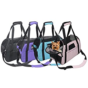 Jespet Portable Comfort 17-19 Inch Soft Sided Pet Carrier Airline Travel Cat/Dog Small Animals Tote Bag