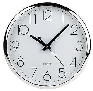 Pendule horloge murale silencieuse pile lr6 alcaline for Pendule murale de cuisine