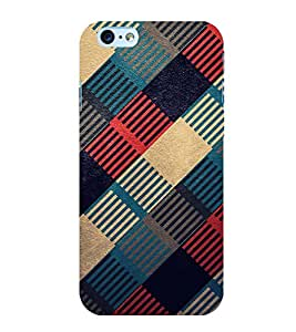 MULTICOLOURED CHECK PATTERN 3D Hard Polycarbonate Designer Back Case Cover for Apple iPhone SE