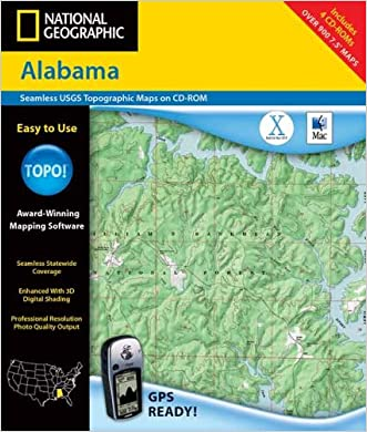 National Geographic Topographical  Alabama