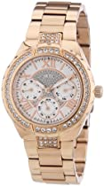 Guess W0111L3 Ladies Rose Gold Multifunction Watch