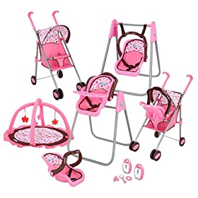 Graco Play Set - Stroller with Canopy, Swing / High Chair, Playgym, Baby Monitors and 3 Piece Access