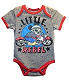 """Disney Mickey Mouse """"LITTLE REBEL"""" Baby Boys Bodysuit Dress Up Outfit"""