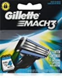 Gíllette Mach 3 Razor Refill Cartridges, 8 Count (2 Pack, 4 Blades to a pack)