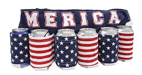 Merica Flag Beer Belt (Can Holder Belt compare prices)