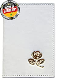 OPTEXX® RFID Passport Protection Baltica White-Gold Rose Made of High Quality Nabuck-cow Leather with OPTEXX®; Made in Germany