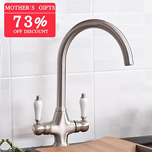 VAPSINT® Solid and Heavy Brushed Steel Kitchen Sink Mixer Tap?superb taps with very good quality