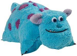 """Pillow Pets Authentic Disney 18"""" Sulley, Folding Plush Pillow- Large"""