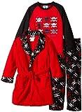 Bunz Kids Little Boys' 3 Piece Robe and Pajama Set Trouble