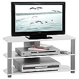 TV-Lowboard-Rack-JACK-in-wei-und-grau-mit-2-offenen-Fchern