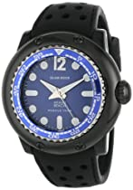 Glam Rock 0.96.2779 Unisex Quartz Watch with Black Dial Analogue Display and Black Silicone Strap MB26015
