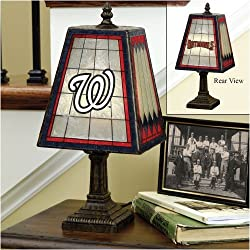 Washington Nationals Memory Company Art Glass Table Lamp MLB Baseball Fan Shop Sports Team Merchandise