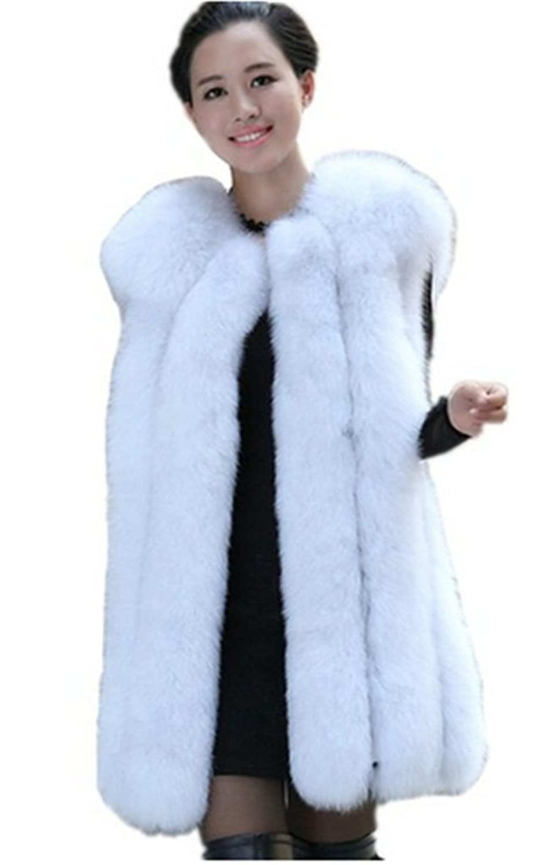 YR Lover Damen Warm Echter 100% Ganze Haut Fuchs Pelz Winter Weste Mantel kaufen