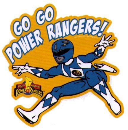 Mighty Morphin Power Rangers Go Go Power Rangers Sticker