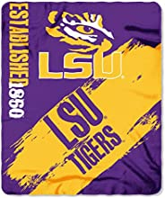 LSU Tigers College Painted Fleece Throw Blanket