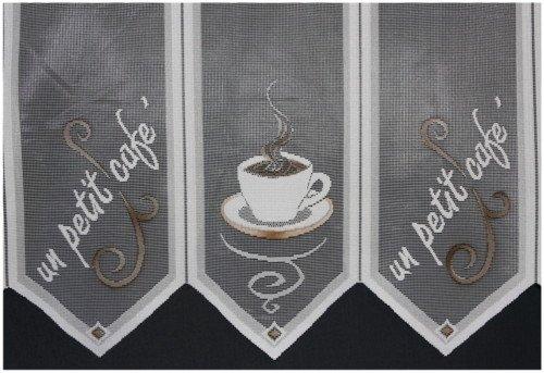 Caffee Scheibengardine Gardine 45cm Hoch Küche Kurzgardine