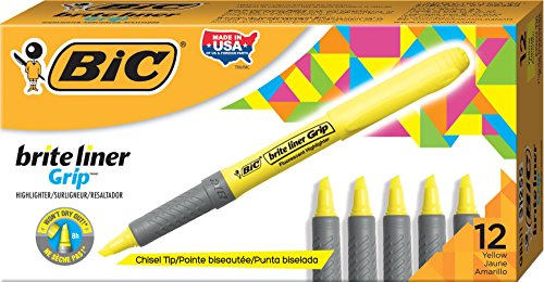 bic-brite-liner-grip-highlighter-pens-yellow-box-of-12