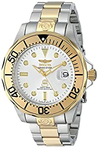 Invicta Men's Automatic Watch with Silver Dial Analogue Display and Silver Stainless Steel Bracelet 3050