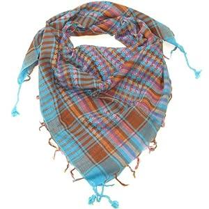 Multicoloured Blue Desert Scarf  Try these trendy desert scarves  Shemagh  Keffiyeh